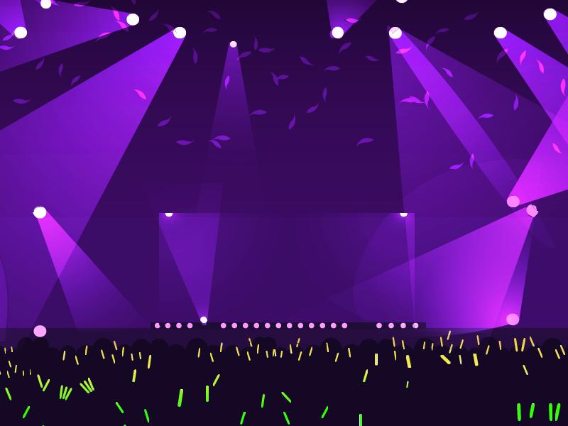 コンサート会場の光の演出の部材